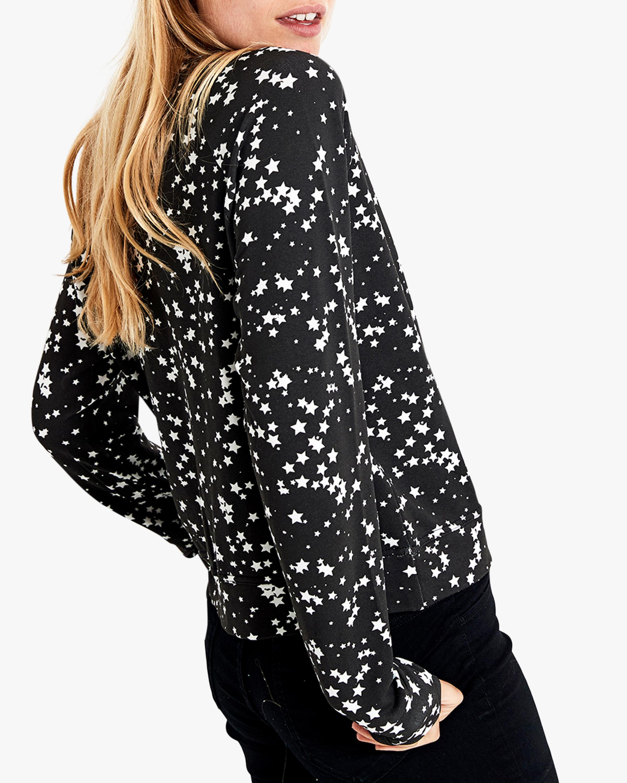 Stripe & Stare Black Star Crewneck Sweatshirt 2