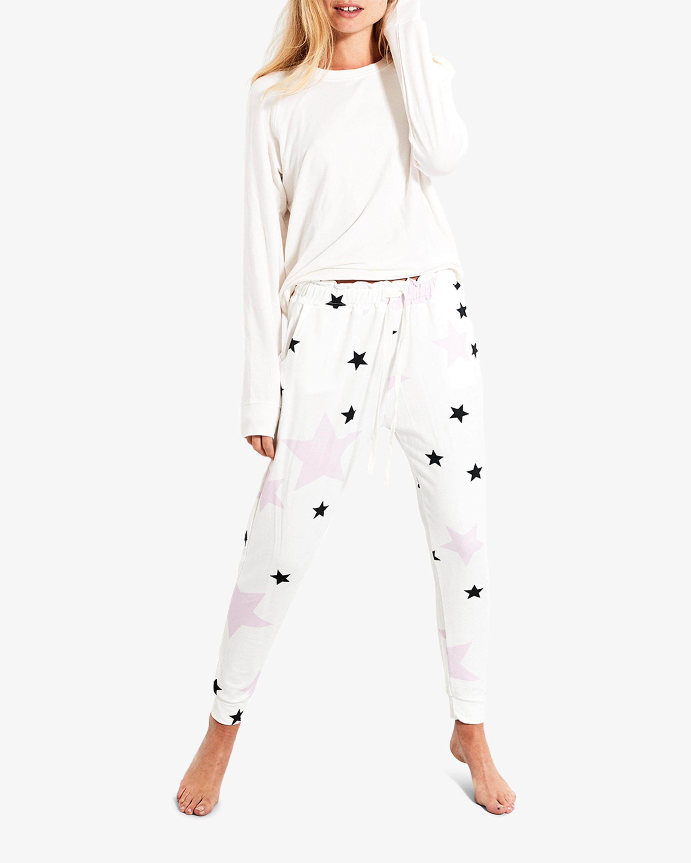 Stripe & Stare Pink Star Lounge Pants 1