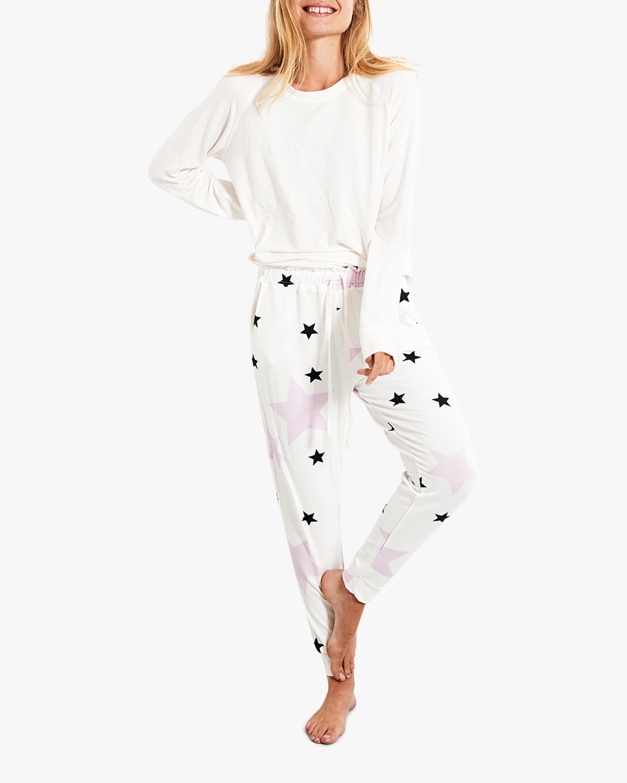 Stripe & Stare Pink Star Lounge Pants 2