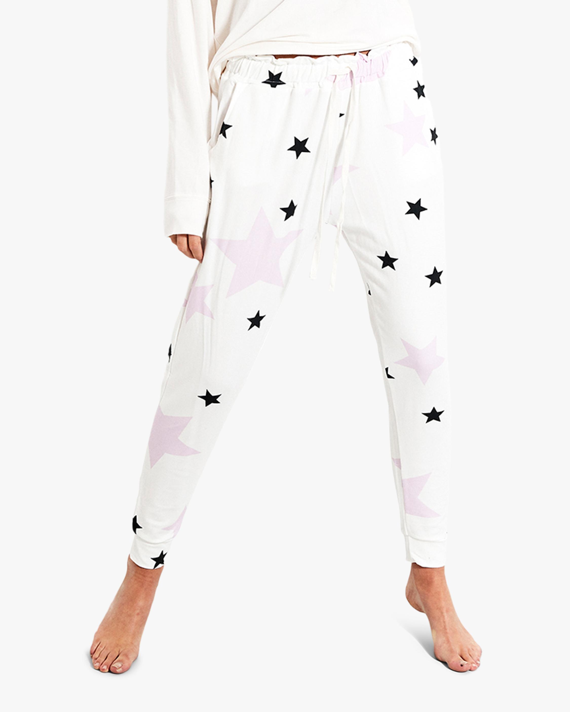 Stripe & Stare Pink Star Lounge Pants 0