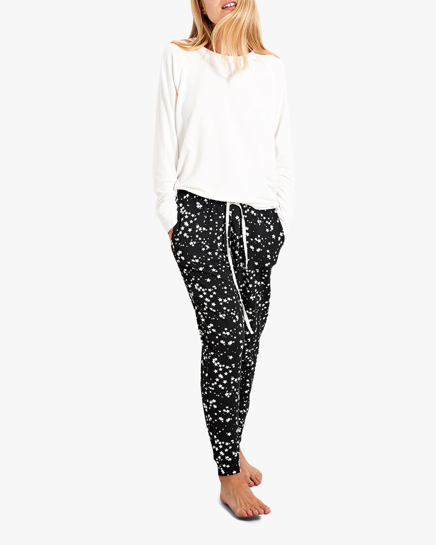 Stripe & Stare Black Star Lounge Pants 1