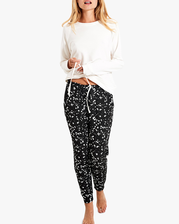 Stripe & Stare Black Star Lounge Pants 2