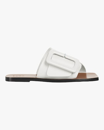 Ceci Vacchetta Leather Slide