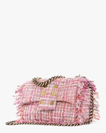 Pink San Francisco Pillow Tweed Shoulder Bag