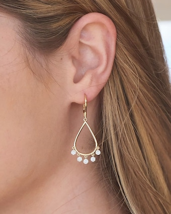 Infinity Pear Dangle Earrings