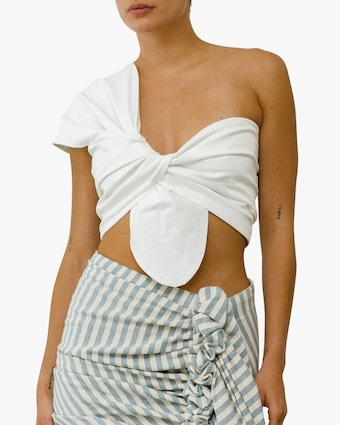 Just Bee Queen White Sol Bandeau Top 1