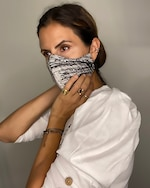 Valentina Shah Graffiti Beaded Face Mask 1
