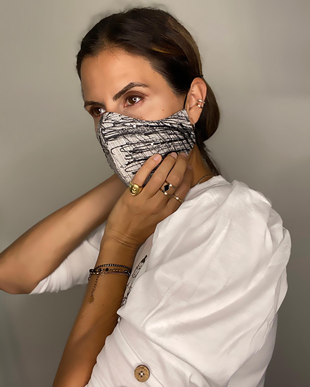 Valentina Shah Graffiti Beaded Face Mask 2