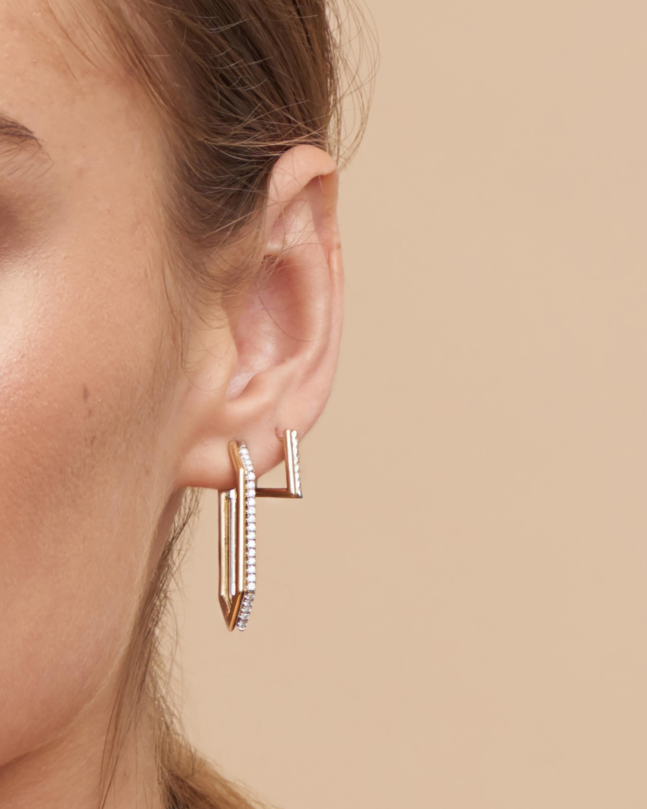 Era Duo Hexagon Earrings 1