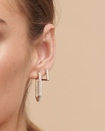 Duo Hexagon Earrings
