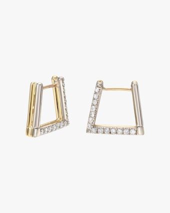 Duo Triangle Earrings