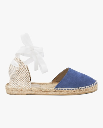 Manebi Patriot Blue Hampton's Lace-Up Espadrille 1