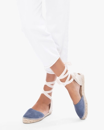 Patriot Blue Hampton's Lace-Up Espadrille