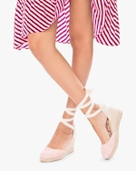 Manebi Pastel Rose Hampton's Lace-Up Wedge 1
