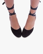 Manebi Black Hampton's Lace-Up Wedge 3