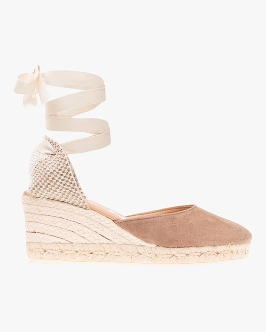 Manebi Vintage Taupe Hampton's Lace-Up Wedge 0