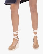 Manebi Vintage Taupe Hampton's Lace-Up Wedge 3