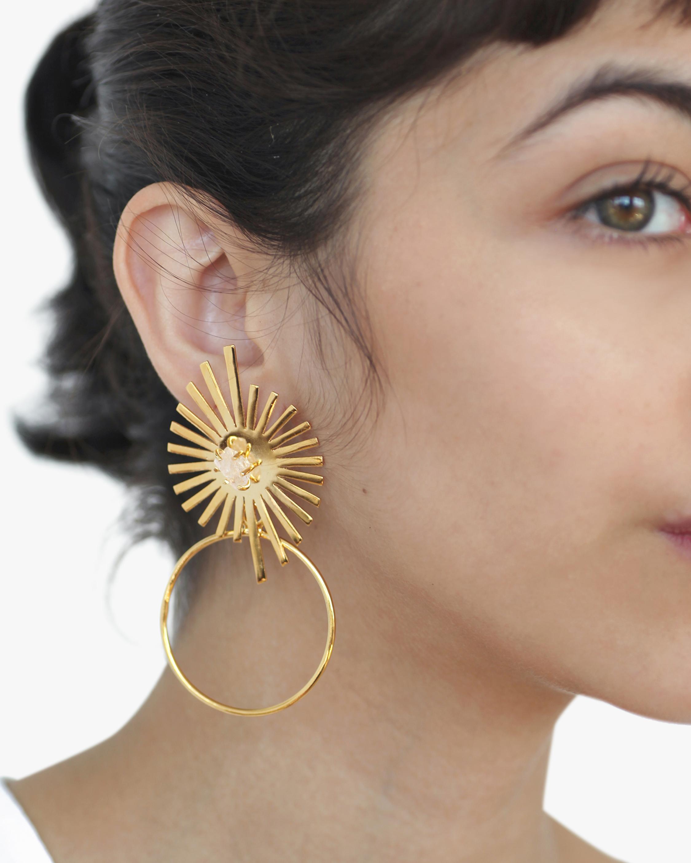 Sol Deco Hoop Earrings