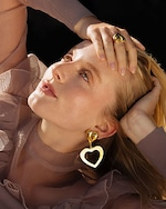 Lina Hernandez Lola Heart Earrings 1