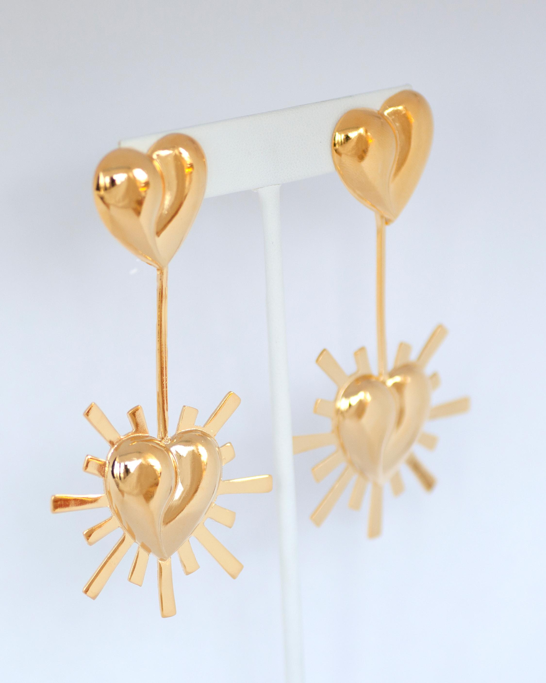 Lola Starburst Heart Earrings