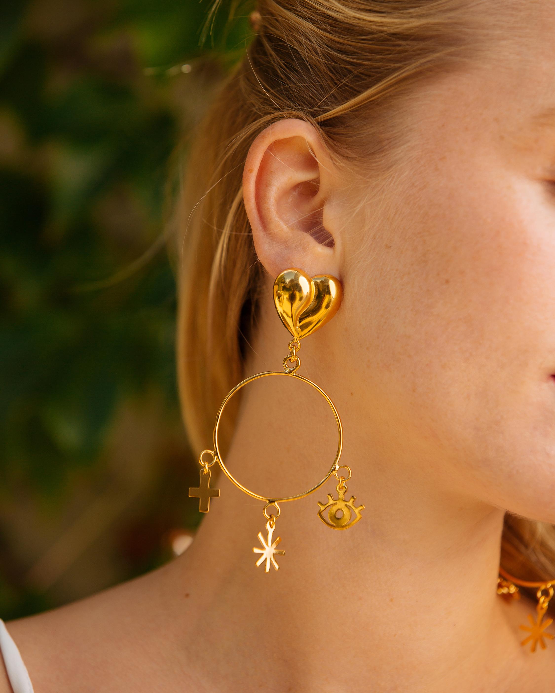 Sacred Heart Lola Earrings