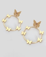 Lina Hernandez Lorenza Butterfly Hoop Earrings 0