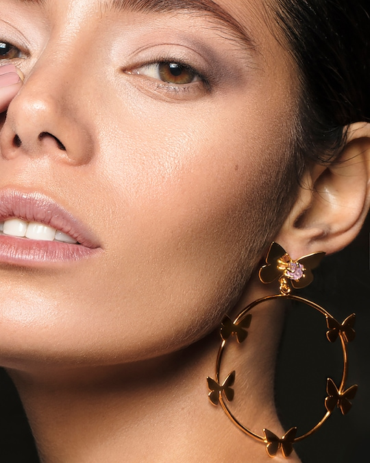 Lina Hernandez Lorenza Butterfly Hoop Earrings 1