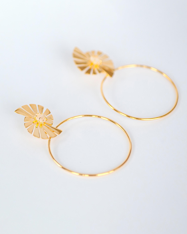Caro Prism Hoop Earrings