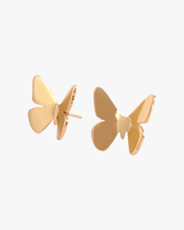 Lina Hernandez Small Butterfly Stud Earrings 1