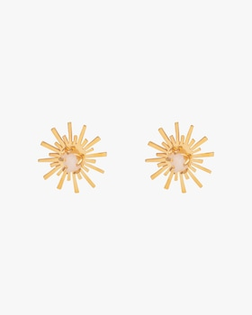 Luciana's Circle Starburst Stud Earrings