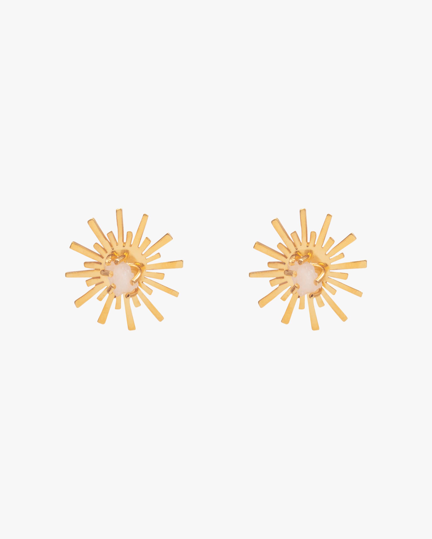 Luciana's Circle Starburst Stud Earrings