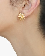 Lina Hernandez Luciana's Circle Starburst Stud Earrings 1
