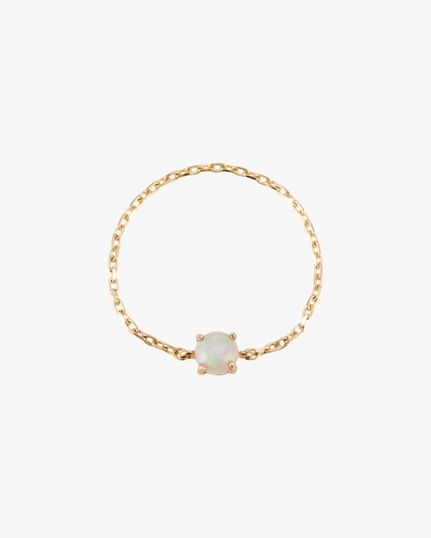 Yi Collection Opal Dot Chain Ring 0