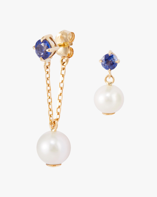 Pearl & Sapphire Earrings