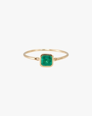 Yi Collection Emerald Petite Button Ring 1