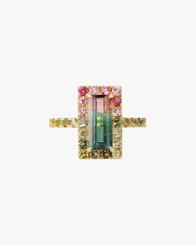 Tourmaline Watermelon Ring