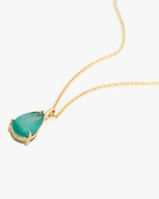 Yi Collection Emerald Dewdrop Necklace 1