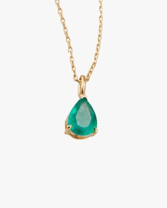 Yi Collection Emerald Dewdrop Necklace 2