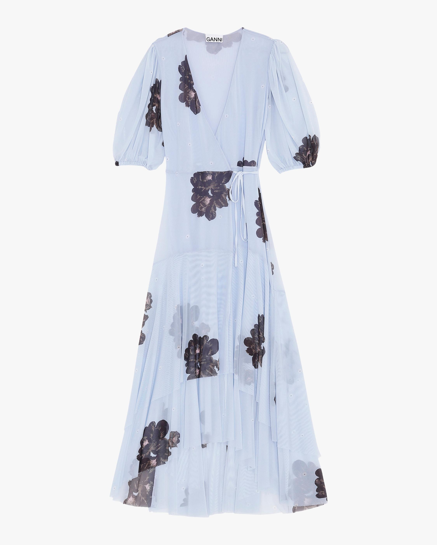 Ganni Mesh Midi Dress 0