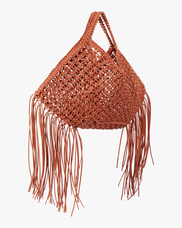 Large Woven Basket Handbag