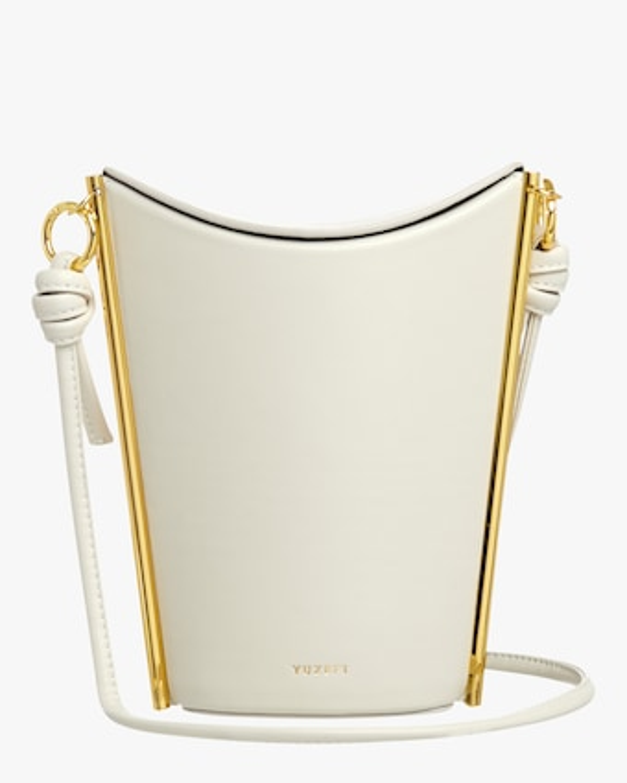 Yuzefi White Pitta Crossbody Bag 1