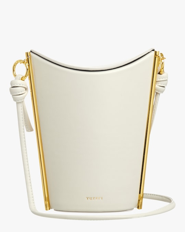 Yuzefi White Pitta Crossbody Bag 0