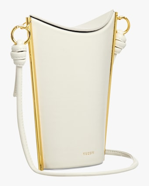 Yuzefi White Pitta Crossbody Bag 2