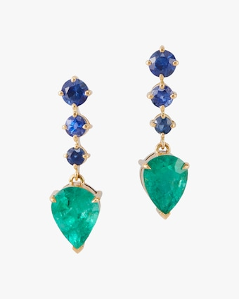 Yi Collection Emerald & Sapphire Earrings 1