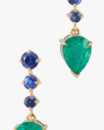 Yi Collection Emerald & Sapphire Earrings 2