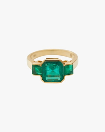 Yi Collection Emerald Deco Ring 1