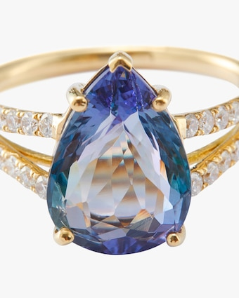 One-of-a-Kind Tanzanite & Diamond Ring