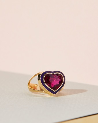 Yi Collection Rubellite Love Ring 2