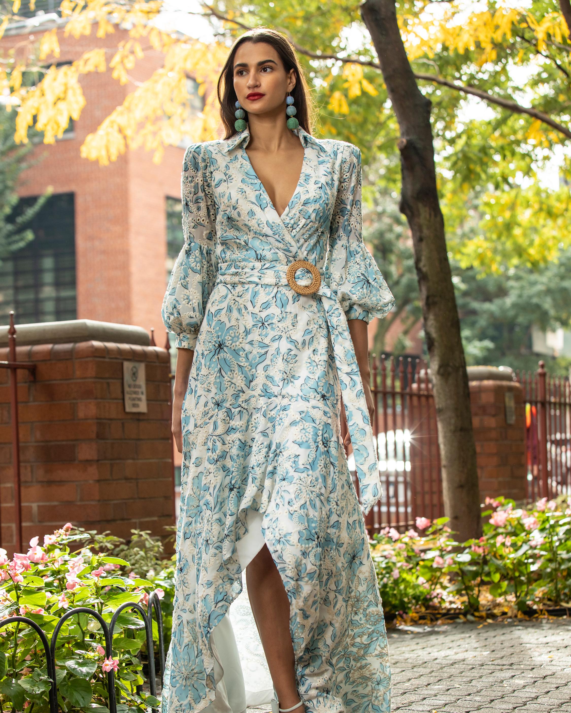 Badgley Mischka Floral Eyelet Hi-Low Dress 1