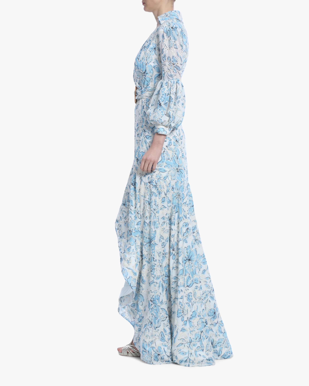 Badgley Mischka Floral Eyelet Hi-Low Dress 2